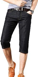Pantalones Vaqueros para Hombre Pantalones Cortos Casuales Coreanos Lavados Delgados Rectos Regulares Todos los tamaños de...