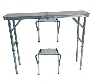 Soytich Mesa plegable de camping con 2 sillas plegables Stühle, mesa plegable (mesa de 90 x 60)