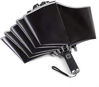 折りたたみ傘 メンズ 逆折り 超撥水 自動開閉 おりたたみ傘 UPF50+ UVカット 完全遮光 晴雨兼用 梅雨対策 頑丈な10本骨 耐強風 大きい 直径105cm ブラック