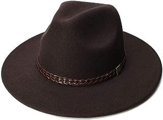Bin Zhang Wool Jazz Hats Large Brim Felt Cloche Cowboy Panama Fedora Hat For Women Black Cap Derby Burgundy Red Fedora Hat With Belt