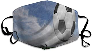 Face Mask Soccer Ball Grass Sky Meadow Inspiring Cycling Half Face Earloop Nose Mask for Girls