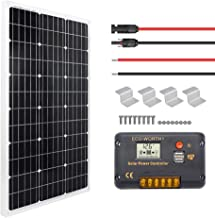 ECO-WORTHY 100 Watt Solar Panel Off-Grid RV Boat Kit - 100 Watt Solar Panel+20A LCD Display Charge Controller +Solar Cable +Z Brackets