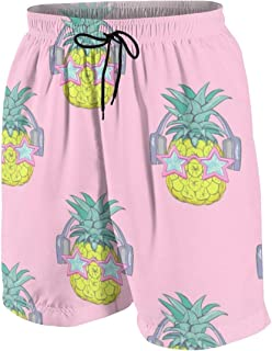 Strawberry Pattern Background Men's Swim Trunks Summer Teen Beach Pants Quick Dry Board Shorts Bathing Suit