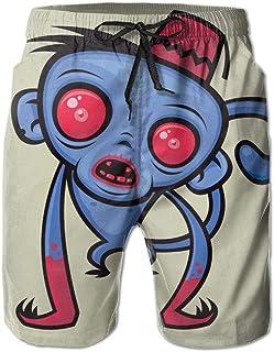 Male Awesome Zombie Monkey Shorts Medium