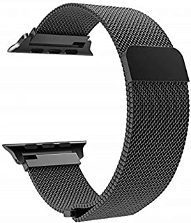 Boogie Compatible with Apple Watch Band 38mm 40mm 42mm 44mm, Stainless Steel Milanese Mesh Sport Wristband Loop with Adjustable Magnet Clasp for iWatch Series 5/4/3/2/1(Black, 38mm/40mm)