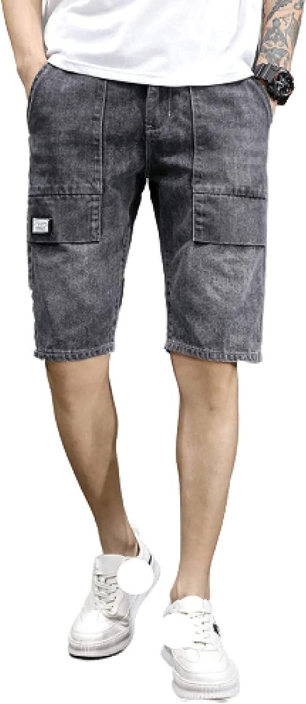 LLTT Men's Popular overseas Ripped Retro Style Distresse Shorts Denim Big Regular dealer Pockets