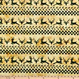 Island Batik 0644459 Candy Cane Lane Deer Stripe, Batik,