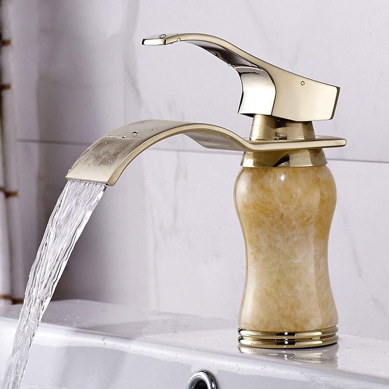 MQQ Alle Kupfer einlochmontage Wasserhahn Badezimmer gegen kalten und heien Wasserfall Wasserhahn
