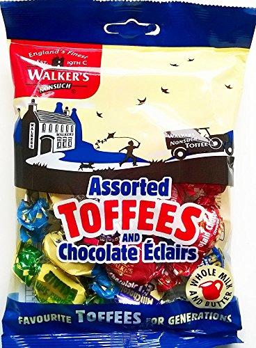 Walkers assortiti caramelle e cioccolato Eclairs - 6 x 150gm