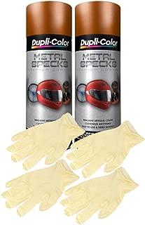 Dupli-Color Burnt Copper Metal Specks Spray Paint (11 oz) Bundle with Latex Gloves (6 Items)