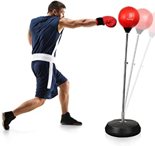 Punching Bag with Stand for Adults Kids, Dprodo Adjustable Speed Reflex Training Bag Plus Boxing Gloves, Workout Punch Set...