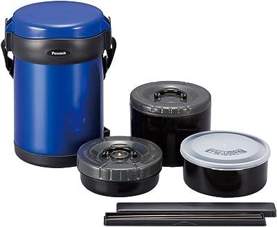 ピーコック魔法瓶工業 保温ランチジャー ブルー 縦型タイプ ステンレスランチジャー ARL-18(A)