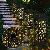 4 Stück Gartenleuchte Solar, Vegena Gartenbeleuchtung mit Erdspieß Solarleuchte Garten Gartenlampe IP65 Wasserdicht LED Wegbeleuchtung Solarlampen für Außen Terrasse Hinterhöfe Rasen Wege