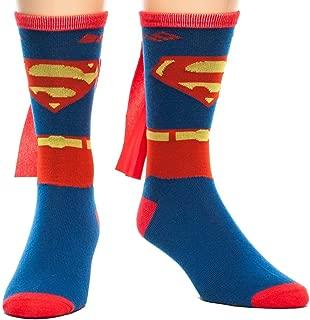 Men's Superman Costume Crew Sock with Cape