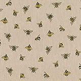 Hans-Textil-Shop Stoff Meterware Bienen - 1 Meter - Für