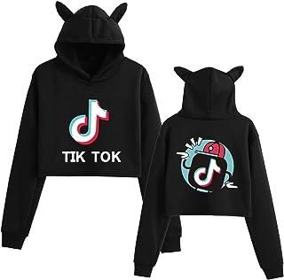 Tik Tok Hoodie Character Hoodie Girl Fashion Loose Cat Ear Women Top Sweatshirt