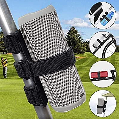 TOOVREN Portable Bluetooth Speaker Mount for Golf Cart Accessories Railing Bike - Wireless Speakers Holder Adjustable Strap for JBL Charge/OontZ Angle/Anker/Doss/AOMAIS/Bose Most Speaker Black