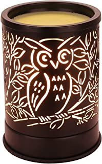 Wax Warmer for Scented Wax, Electric Wax Melter Candle Warmer Metal Owl Design Essential Oil Burner for Home Décor