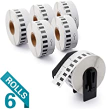 Airmall 6 Rolls Compatible with DK-2210 Continuous Labels, 1-1/7