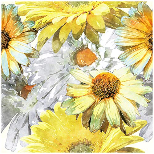 HaokHome 93039 Vintage Fall Sunflower Peel and Stick Wallpaper Floral...