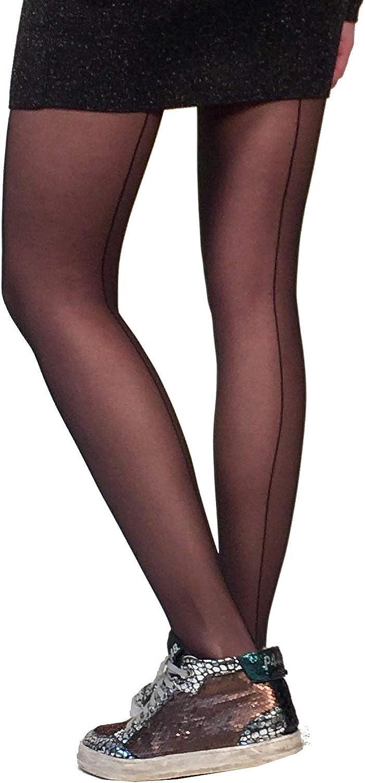 Black Backseam Sheer Stockings Tights For Women Malka Chic