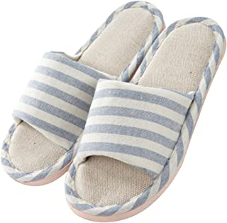 APIKA Women and Men's Comfortable Casual Cotton Flax Slipper Indoor Use