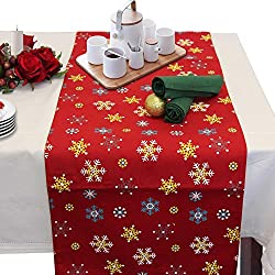 table set for christmas
