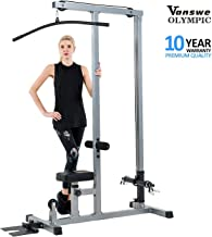 Vanswe LAT Pulldown Low Row Cable Pull Down Machine Removable Front Steel Foot Rest