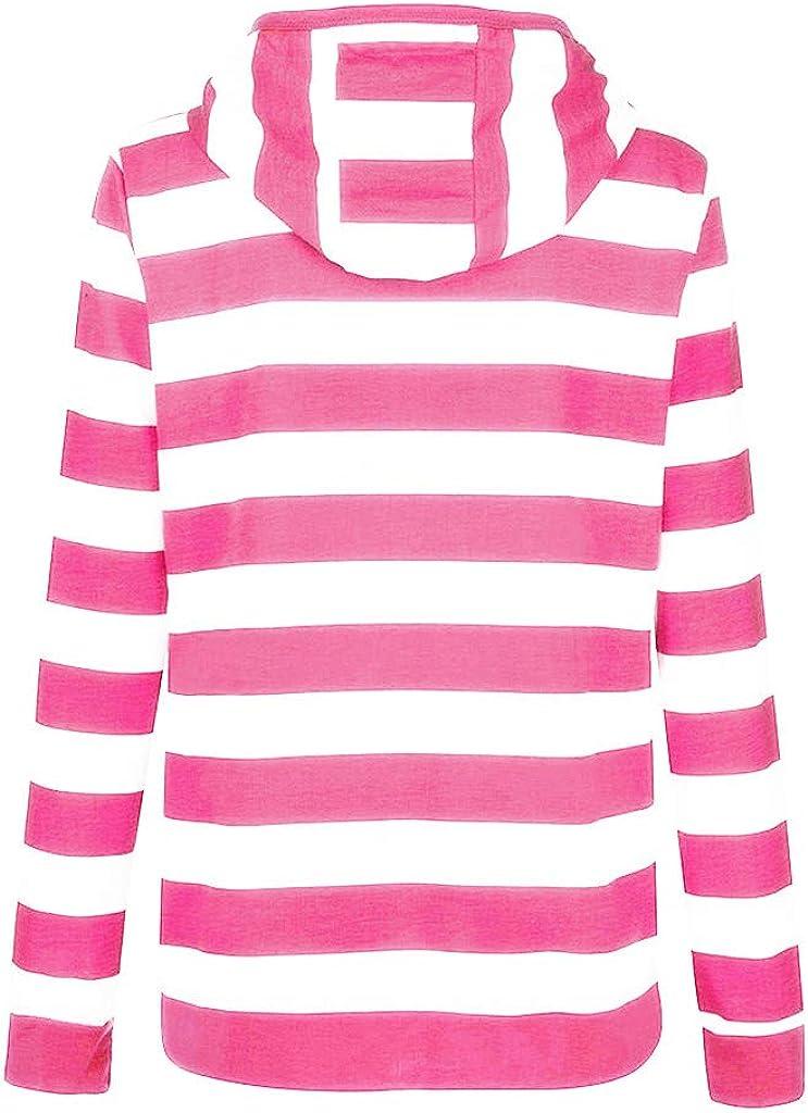ESAILQ Mode Damen Hoodie Sweatshirt mit Kapuze Mantel Zipper Jacke B-pink