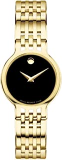Movado Esperanza Quartz Black Dial Ladies Watch 0607149
