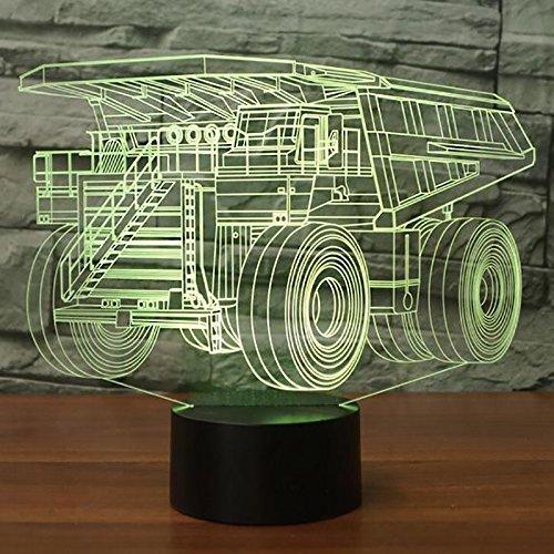 Dormitorio Decoración Accesorio de luz Colorido Usb Haul Truck Forma 3D Lámpara de escritorio Led Niño Coche Modelado Luces nocturnas Regalos de Navidad S
