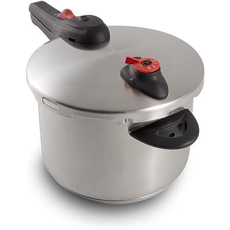 NuWave stainless steel pressure cooker, 6.5 Quart, Silver