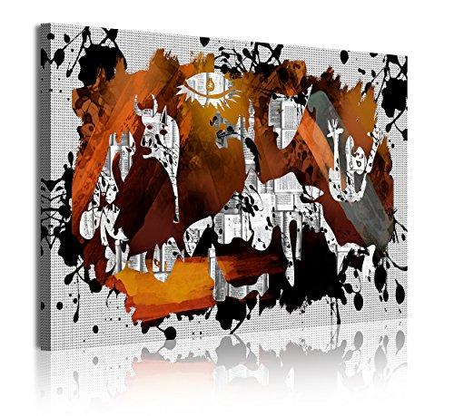 DekoArte 341 - Cuadros Modernos Impresión de Imagen Artística Digitalizada | Lienzo Decorativo para Tu Salón o Dormitorio | Estilo Abstractos Arte Picasso Guernica | 1 Pieza 120 x 80 cm