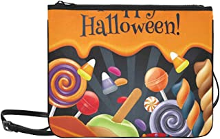 Halloween Sweets Colorful Party Lollipop Custom High-grade Nylon Slim Clutch Bag Cross-body Bag Shoulder Bag