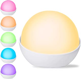 Night Light for Kids, ICODE Sports Rechargeable Silicone Baby Night Light, Safe ABS+PC, Adjustable Brightness, Warm White/Cool White, up to 100 Hours