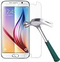 Galaxy S6 Screen Protector,TANTEK [Bubble-Free][HD-Clear][Anti-Scratch][Anti-Glare][Anti-Fingerprint] Premium Tempered Glass Screen Protector for Samsung Galaxy S6,-[1Pack]