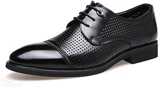 [EISOON] メンズ 夏 革靴 メッシュ ビジネスシューズ 通気 軽量 フォーマル ポインテッドトゥ 紳士靴