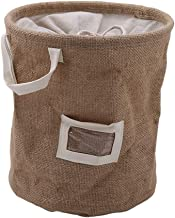 SWZJJ Jute Sorting Bins Laundry Baskets Dirty Clothes Folding Collapsible Storage Home Basket