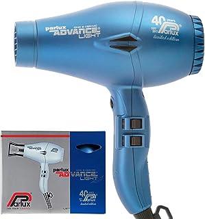 Parlux Advance Light Ionic & Ceramic Dryer 2200W - Matt Blue + Silver Bullet Mini Straightener, Multicolor, 1035 g, Pack of 2