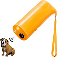 HXDZFX LED Ultrasonic Dog Repeller and Trainer Device 3 in 1 Anti Barking Stop Bark Handheld Dog Training Device