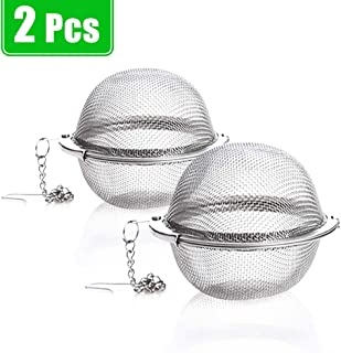Xloey 2 Pack Tea Strainer-Stainless Steel Mesh Tea Ball Infuser,Premium Tea Filter Tea Interval Diffuser with Extended Cha...