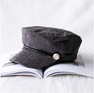 WYMAI Beret, Autumn and Winter Corduroy British Retro Octagonal Cap Simple and Practical Product (Color : Gray)
