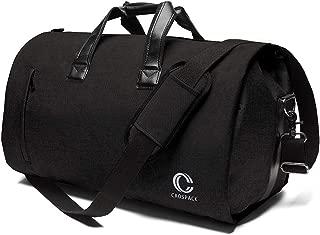 Business Travel Duffle Bag Garment Bag 55L Super Capacity Crazy Horse Leather Travel Bag for Men and Momen Flight Bag Weekender Travel Suit Bag
