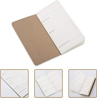 Wanderings Traveler's Notebook Calendar Refill Inserts - Undated - Set of 3 - Calendar Planner Refills For Leather Travel Journals, Diaries and Planners | 3 x 26 weeks | 8.25 x 4.25 Inch (21cm x 11cm)