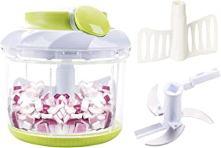 Smile mom Pull Food Chopper with Mincer Chopper Blades&Plastic Mixer Blender(4 Cup) Manual Food Processor to Chop Vegetable Fruit Meat Nut Onion Carrot Garlic Potato for Salad