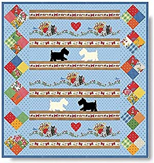 PUPPY LOVE Quilt Kit - Moda Scottie Dog Fabric + Quilt Pattern