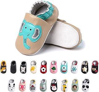 Chaussures Bebe Fille Garçon Premier Pas Chaussons Enfant Antidérapants Souple Cuir PU Pantoufles Animaux Chaussettes Seme...