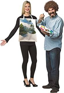 Bob Ross Kit & Painted Canvas Couples Costume
