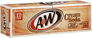 A&W Cream Soda made with Aged Vanilla Fridgepack - 12 oz cans - 12 pack
