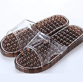 Slippers house massage slaps Home Men indoor man's shoes home summer women Bath ladies Foot Shoes Unisex (Color : Brown, Shoe Size : 39)